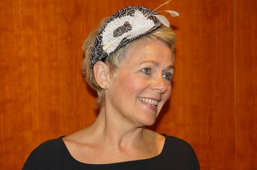 Fascinator zwart wit