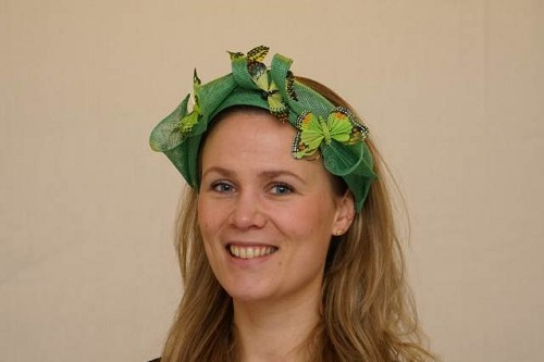 Fascinator, diadeem groen
