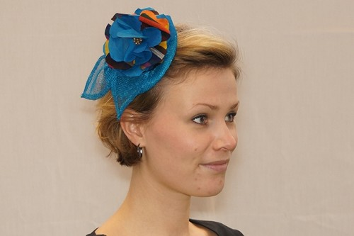 Fascinator kobaltblauw