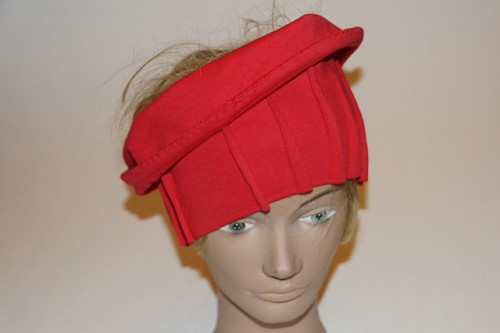 Haarband tricot rood